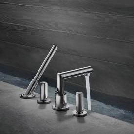 AXOR Uno 4 hole deck-mounted bath mixer, zero handles chrome