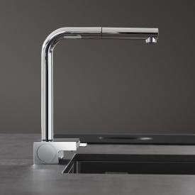 Hansgrohe Aquno Select M81 single lever kitchen mixer with pull-out spout chrome