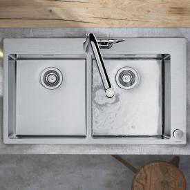 Hansgrohe C71 Select sink combination 370 x 370, with 2 bowls W: 86.5 D: 50 cm chrome