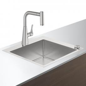 Hansgrohe C71 Select sink combination 450 stainless steel look