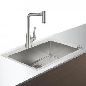 Hansgrohe C71 Select sink combination 660 W: 76 D: 50 cm stainless steel look