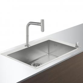 Hansgrohe C71 sink combination  660 W: 76 D: 50 cm stainless steel look