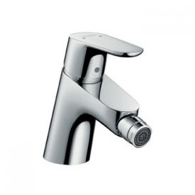 Hansgrohe Focus single lever bidet mixer with pop-up waste set and connection hoses