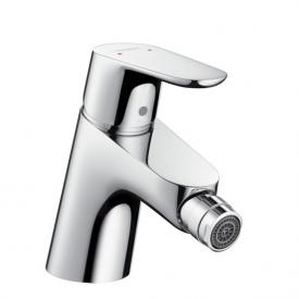 Hansgrohe Focus single lever bidet mixer with push-open waste set