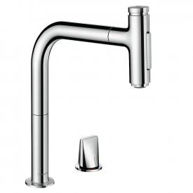 Hansgrohe Metris Select M71 kitchen fitting 200 with pull-out dual spray chrome