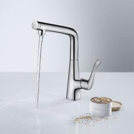 Hansgrohe Metris Select M71 single lever kitchen mixer 320 chrome
