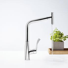 Hansgrohe Metris Select M71 single lever kitchen mixer 320 with pull-out spout chrome