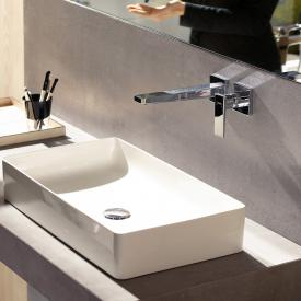 Hansgrohe Metropol wall-mounted single lever basin mixer, with lever handle chrome, projection: 225 mm