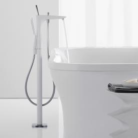 Hansgrohe PuraVida exposed, floorstanding single lever bath/shower mixer white/chrome