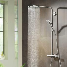 Hansgrohe Raindance Select S showerpipe 240 1jet PowderRain with thermostat chrome