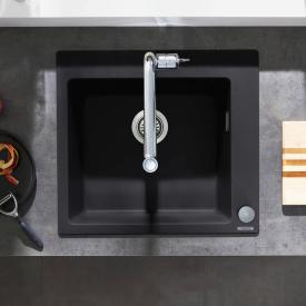 Hansgrohe S51 built-in sink 450 graphite black