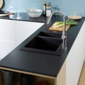 Hansgrohe S51 built-in sink 180/450 graphite black