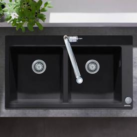 Hansgrohe S51 built-in sink 370/370 graphite black