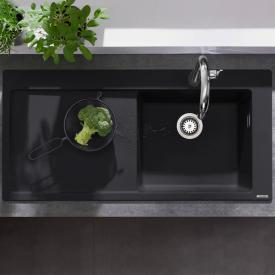Hansgrohe S51 built-in sink 450 with draining board graphite black