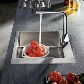 Hansgrohe S71 built-in sink 450 with 1 tap hole