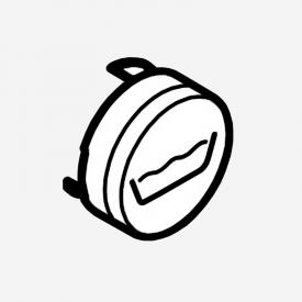 Hansgrohe ShowerSelect push button symbol matt