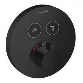 Hansgrohe ShowerSelect S concealed thermostat, for 2 outlets matt black