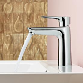 Hansgrohe Talis E single lever basin mixer 110 chrome, with push-open waste set