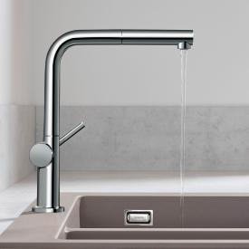 Hansgrohe Talis M54 single lever kitchen mixer with pull-out spout chrome