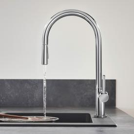 Hansgrohe Talis M54 single lever kitchen mixer with pull-out spray chrome