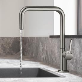 Hansgrohe Talis M54 single lever kitchen mixer with swivel spout brushed stainless steel