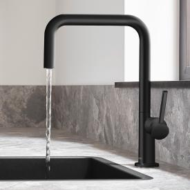 Hansgrohe Talis M54 single lever kitchen mixer with swivel spout matt black