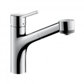 Hansgrohe Talis S single lever kitchen mixer with pull-out spray and sBox chrome