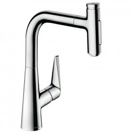 Hansgrohe Talis Select M51 kitchen fitting 220 with pull-out dual spray chrome