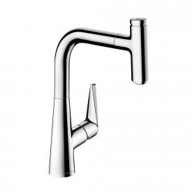 Hansgrohe Talis Select M51 single lever kitchen mixer 220 with pull-out spout chrome