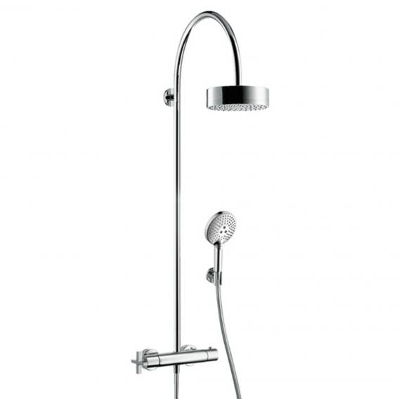 AXOR Citterio Showerpipe with thermostat and 1jet overhead shower
