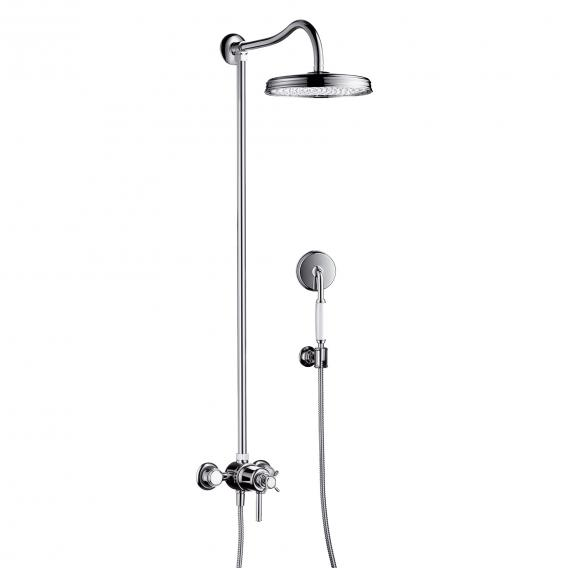 AXOR Montreux Showerpipe with thermostat and 1jet overhead shower chrome