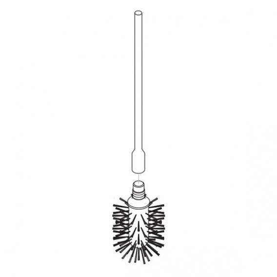 AXOR Steel toilet brush and handle