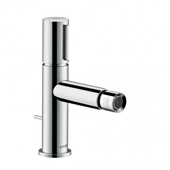AXOR Uno Select single lever bidet mixer, with pop-up waste set chrome