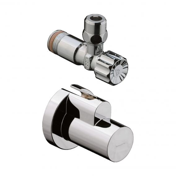"""Hansgrohe angle valve 1/2"""" x 3/8"""", with and cover chrome"""