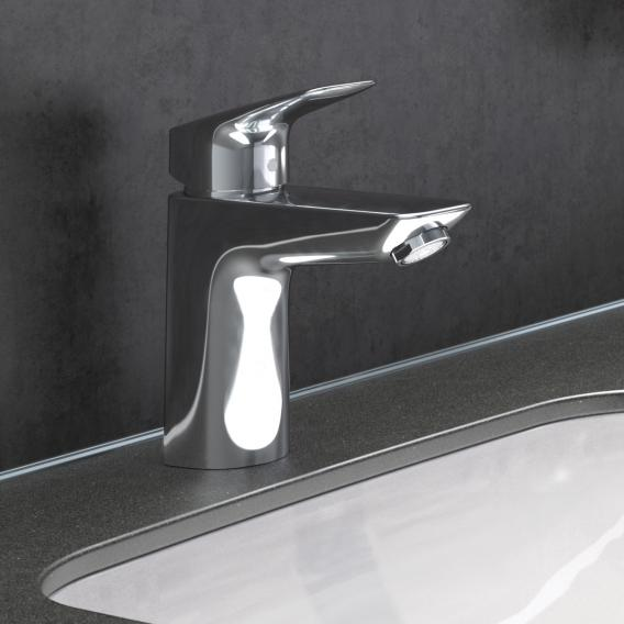 Hansgrohe Logis single lever basin mixer 100 with push-open waste set