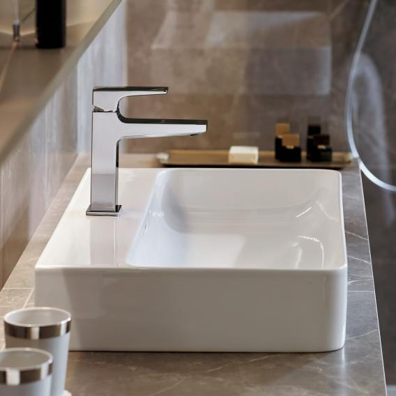 Hansgrohe Metropol single lever basin mixer 110, with lever handle, CoolStart, with waste set