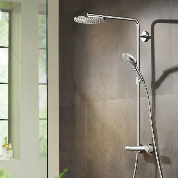 Hansgrohe Raindance Select S showerpipe 240 1jet PowderRain with thermostat chrome
