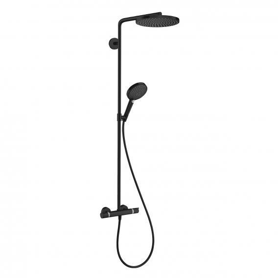 Hansgrohe Raindance Select S showerpipe 240 1jet PowderRain with thermostat matt black