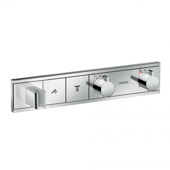 Hansgrohe RainSelect trim set for 2 outlets, concealed chrome