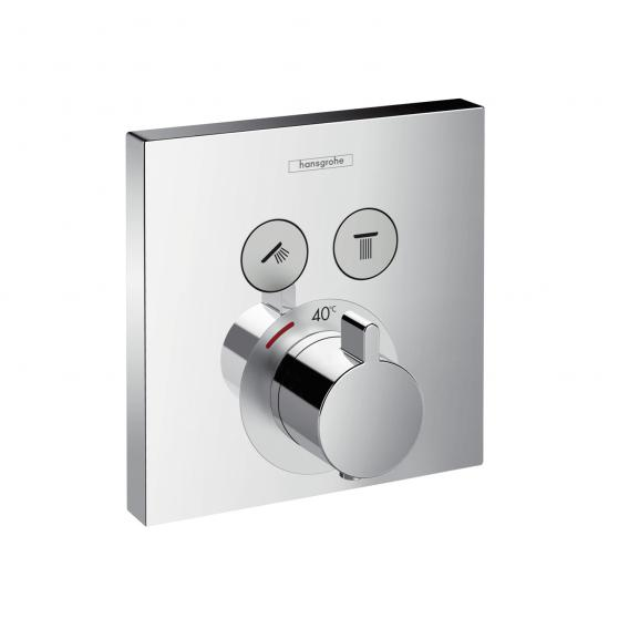 Hansgrohe ShowerSelect concealed thermostat for two outlets chrome