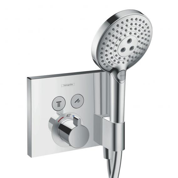 Hansgrohe ShowerSelect concealed thermostat for 2 outlets with Fixfit and Porter unit
