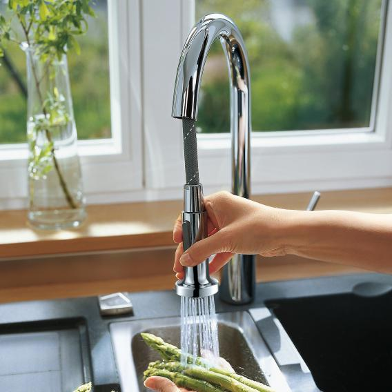 Hansgrohe Talis M52 Variarc single lever kitchen mixer with pull-out spray and sBox chrome