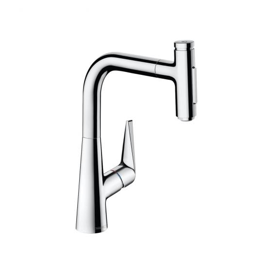 Hansgrohe Talis Select M51 single lever kitchen mixer 220, with pull-out spout and sBox chrome