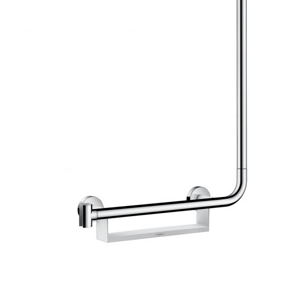 Hansgrohe Unica Comfort shower rail 1.10 m with grab rail left white/chrome