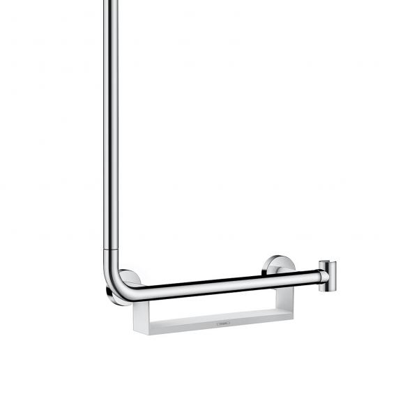 Hansgrohe Unica Comfort shower rail 1.10 m with grab rail right white/chrome