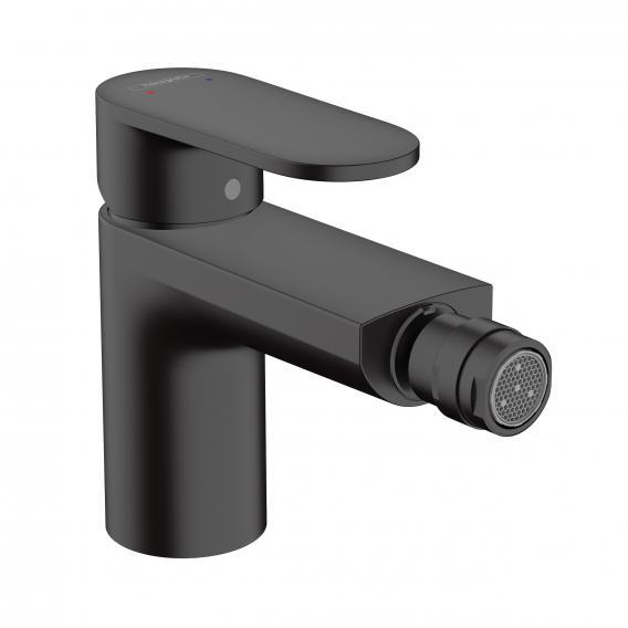 Hansgrohe Vernis Blend single lever bidet mixer with pop-up waste set matt black