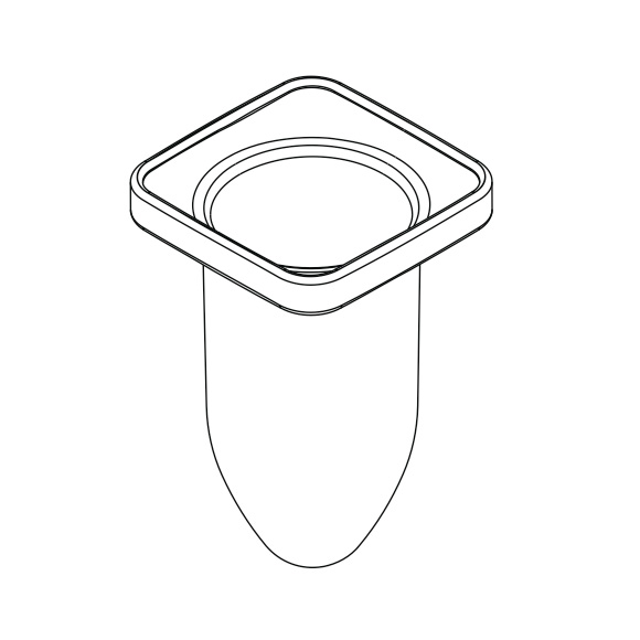 AXOR bowl for toilet brush set 42435000