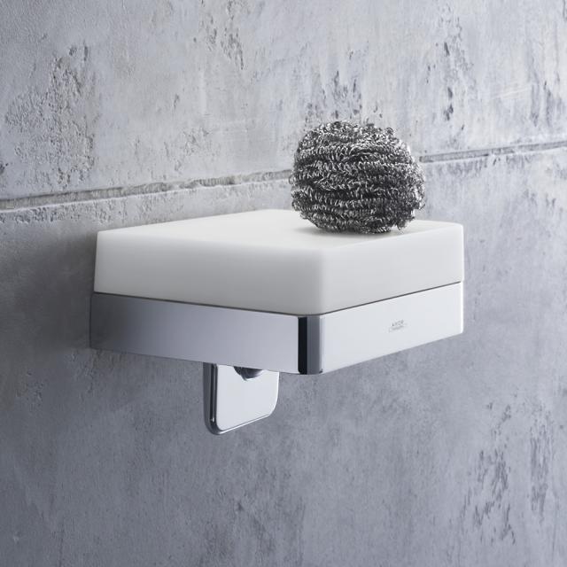 AXOR Universal accessories liquid soap dispenser with shelf chrome