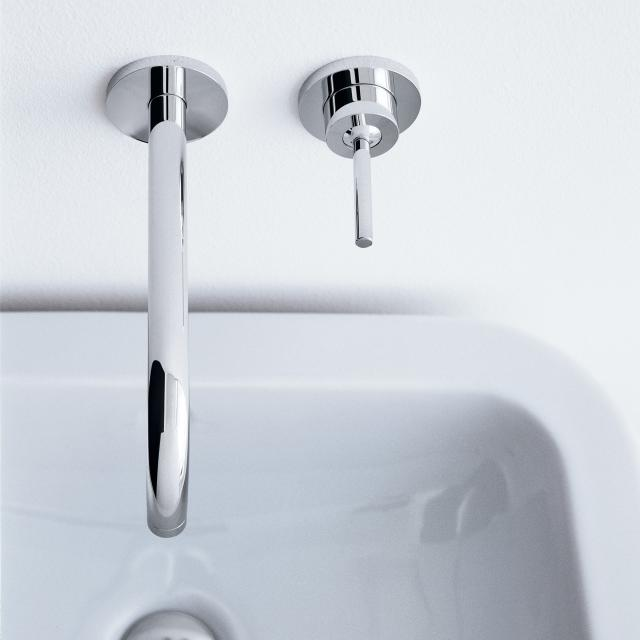 AXOR Uno wall-mounted single lever basin mixer with escutcheons projection: 225 mm, chrome