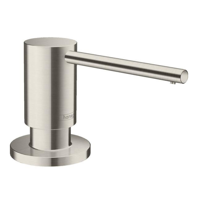 Hansgrohe A41 washing-up liquid & lotion dispenser, round stainless steel